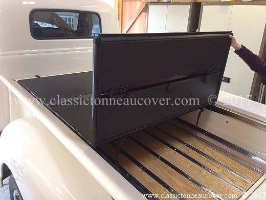 Folding hard tonneau cover for the 1947-53 Chevy truck.